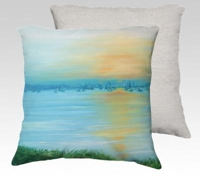 Saugatuck Dawn Velvet Pillow (small)