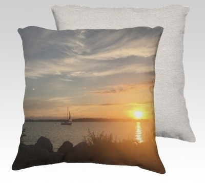 Compo Marina Sunset Velvet Pillow (small)