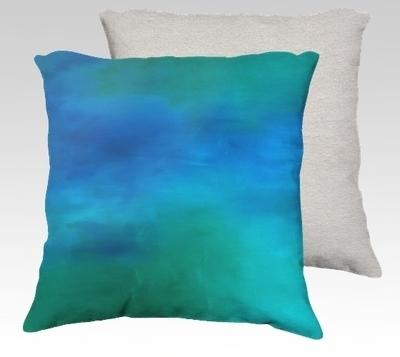 Moving Water Velvet Pillow (small)