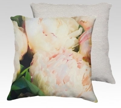 Peonies 1 Velvet Pillow (small)