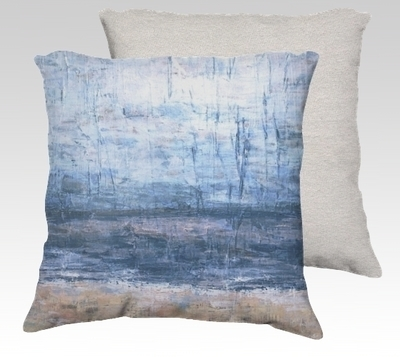 Cool Beach Velvet Pillow (small)