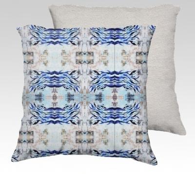 Blue Waves Velvet Pillow (large)