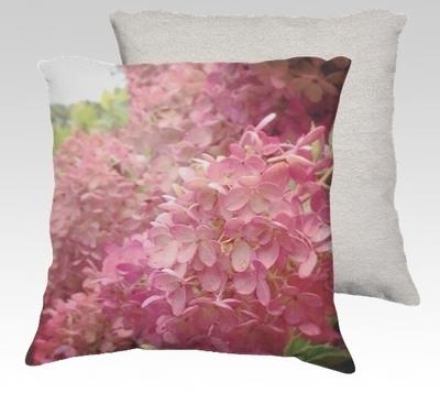 Hydreangea Velvet Pillow (small)