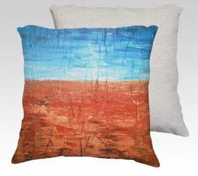 Orange Rise Velvet Pillow (small)