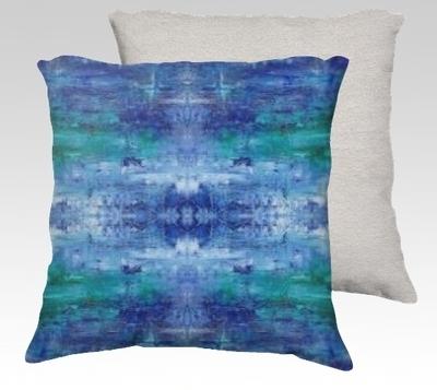 Blue Ice Velvet Pillow (large)