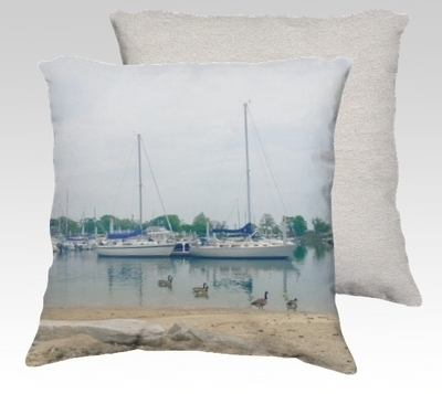 Compo Boats Velvet Pillow (small)