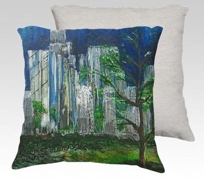 City Views 1 Velvet Pillow (small)