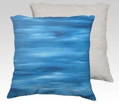 Shades of Blue Velvet Pillow (small)