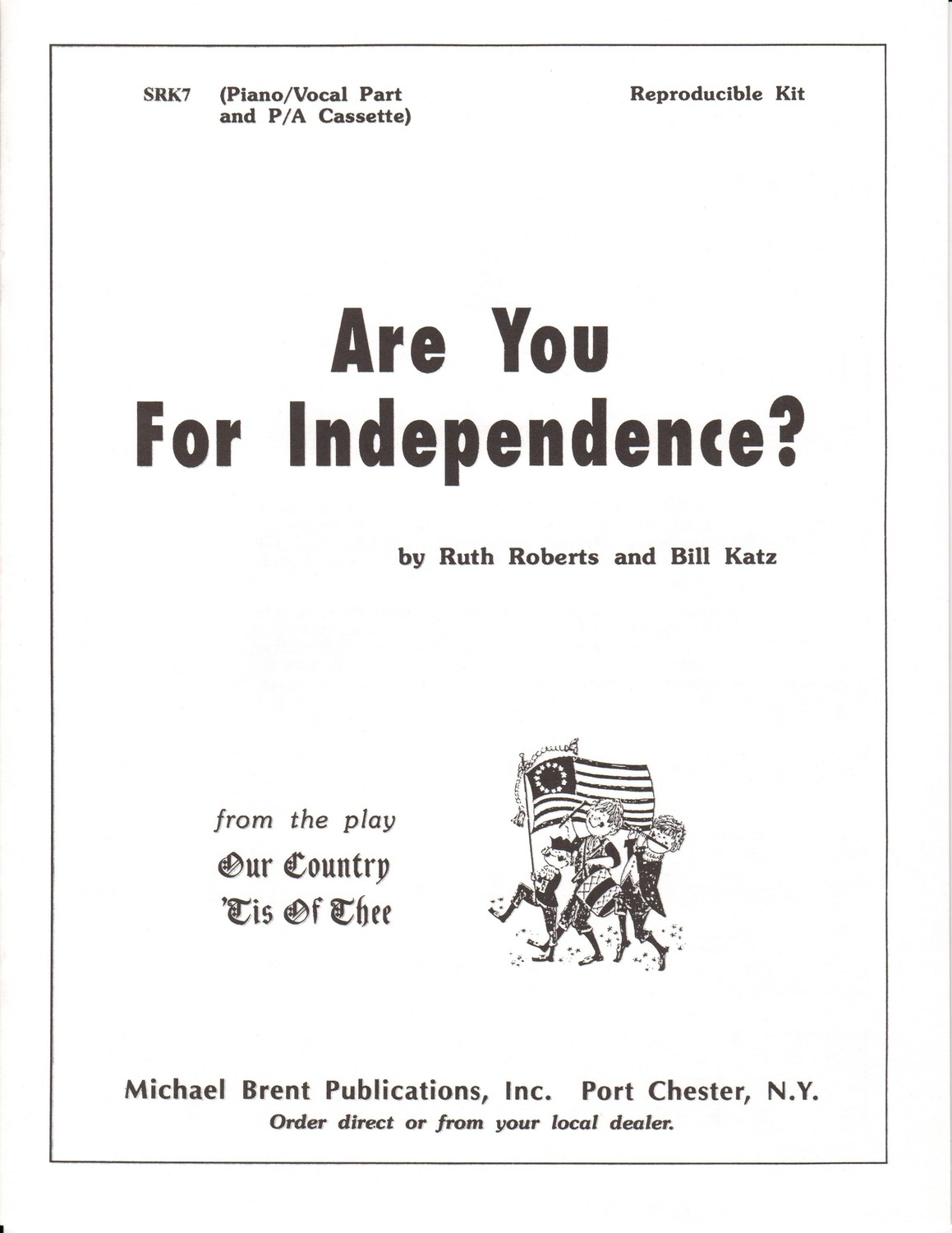 Are You For Independence - Choral Book/CD