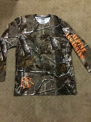 Camo LS T Orange Sketch