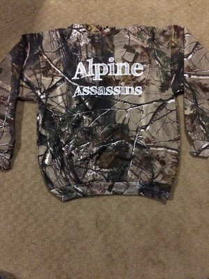 Camo Pull Over Hoody White Sketch