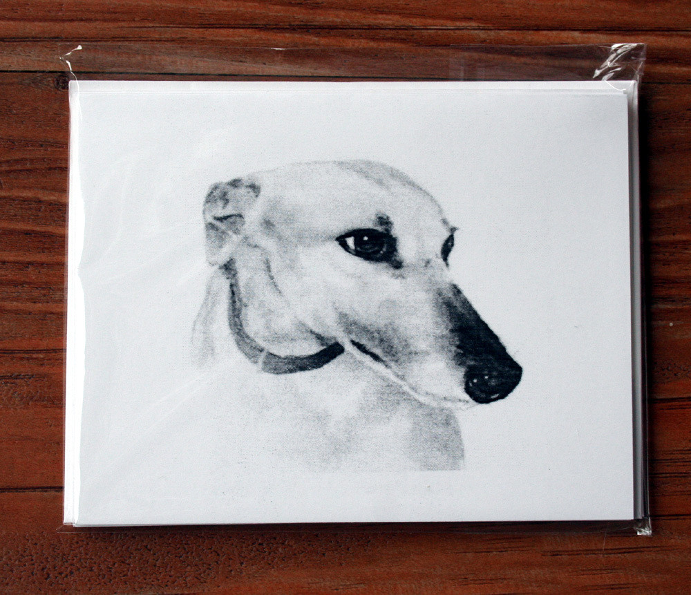 Greyhound Study Two Note Cards