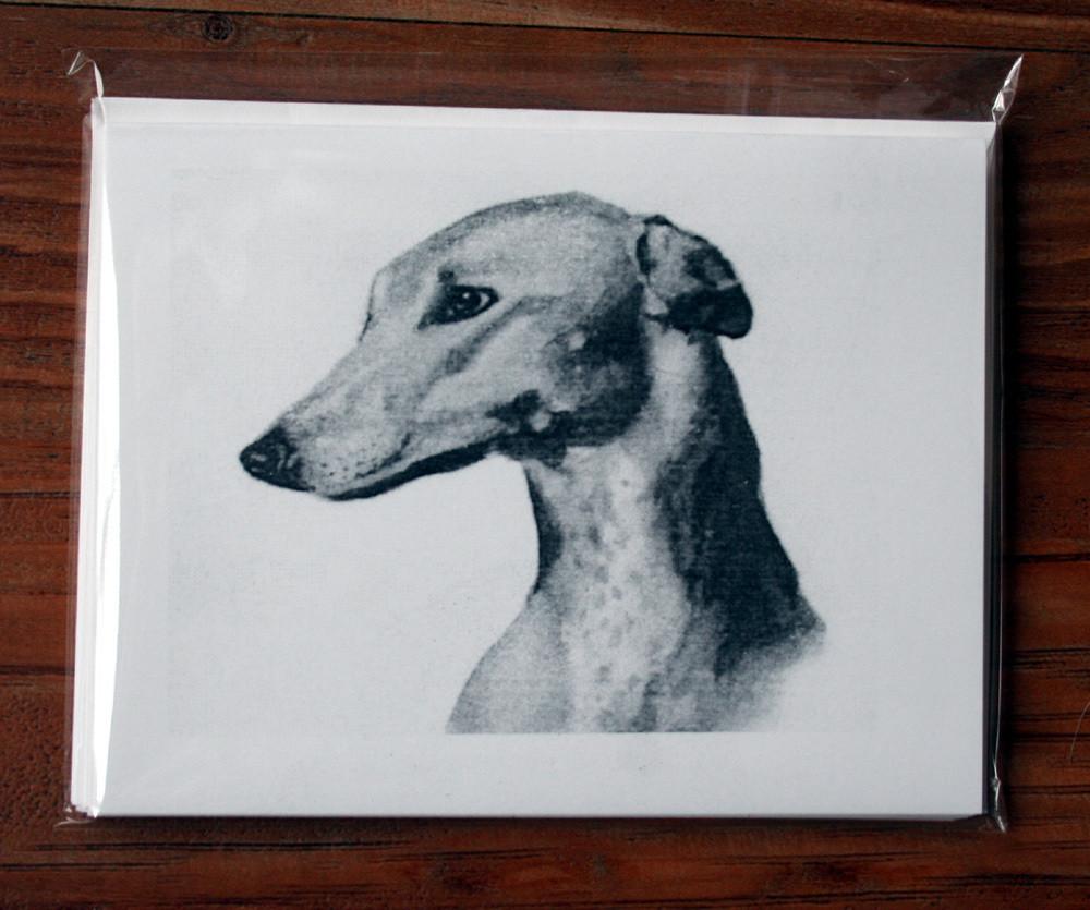 Greyhound Study Three Note Cards