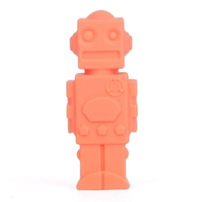 Orange Robot Pencil Topper