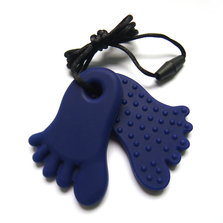 Footprint Pendant Navy Blue