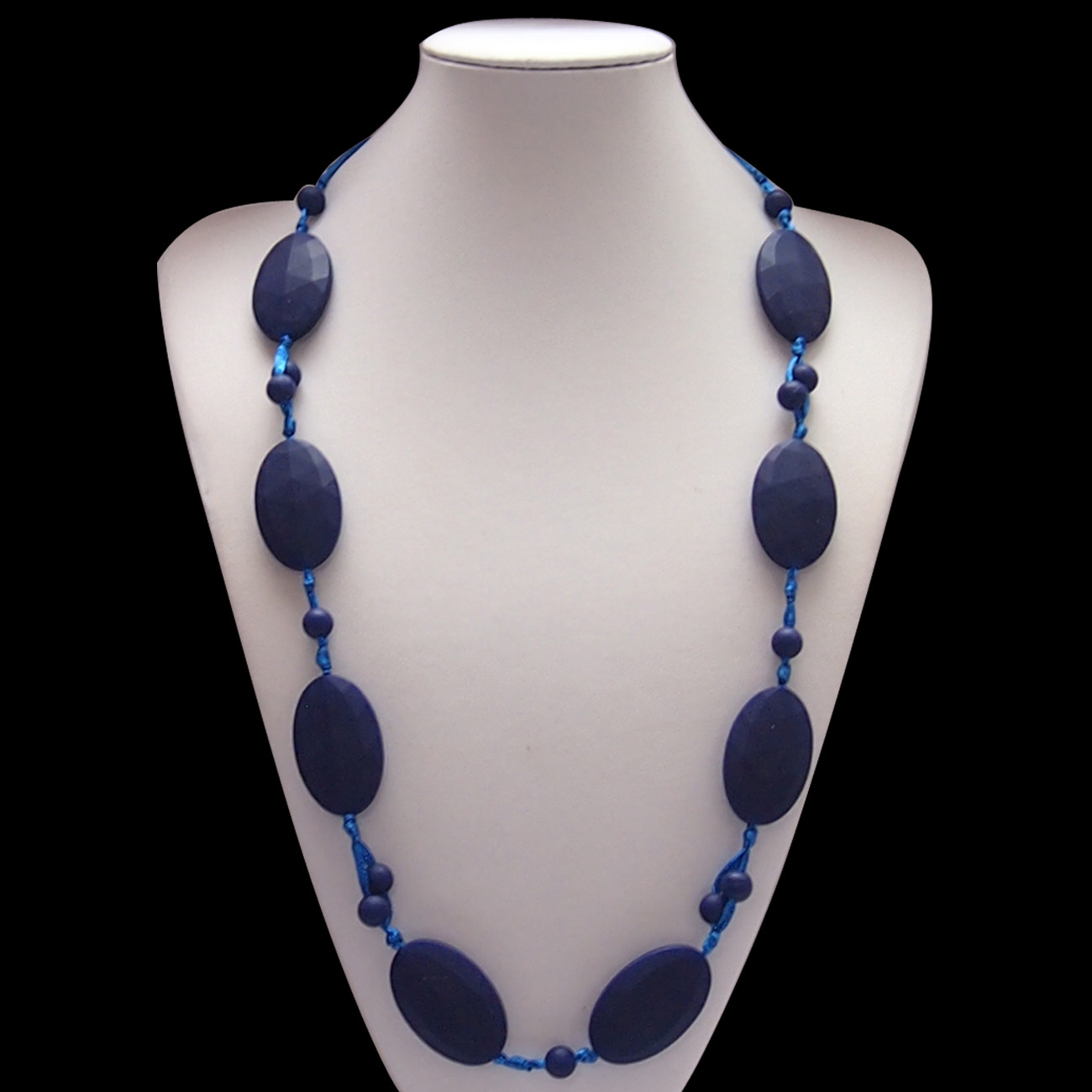 Bobbles and Beads Navy Blue