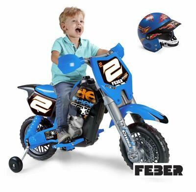 Feber Rider Cross 6V com capacete (800012224)