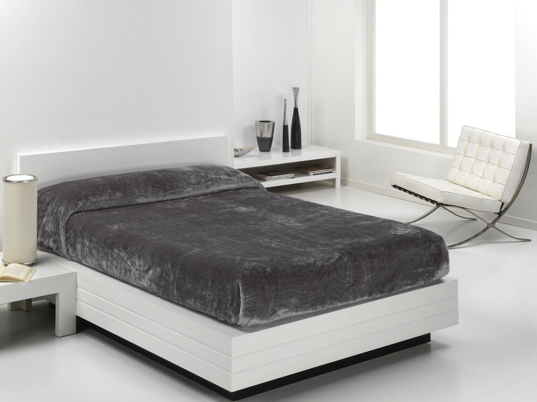 Cobertor Veludo Eden 240x240 Cinza