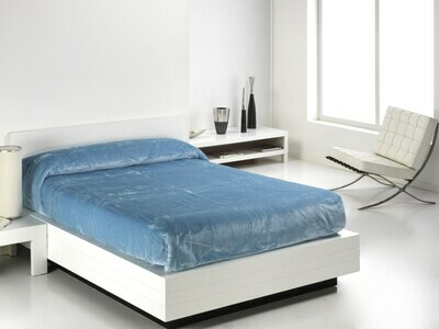 Cobertor Veludo Eden 240x240 Celeste