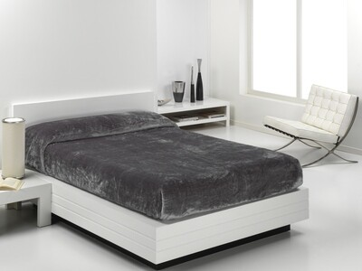 Cobertor Veludo Eden 160x240 Cinza