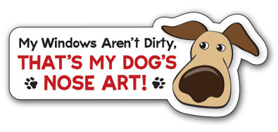 Dog's Nose Art Small Magnet