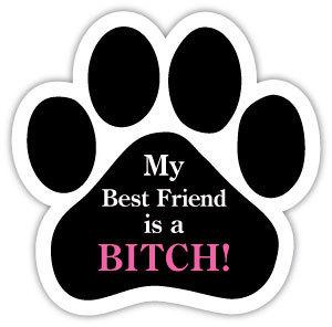 My best friend is a bitch!