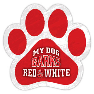 My Dog Barks Red and White