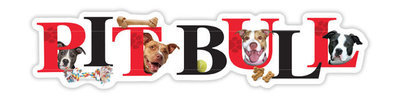 Red and Black Pit Bull Magnet