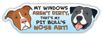 Pit Bull Nose Art Magnet