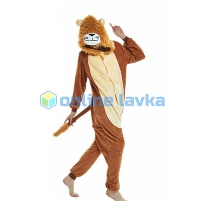 Пижама кигуруми лев (размер m)