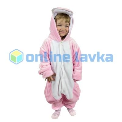 Пижама кигуруми Динозавр розовый (рост до 140 см)