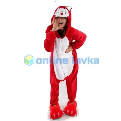 Пижама кигуруми красная лиса (рост до 120 см)