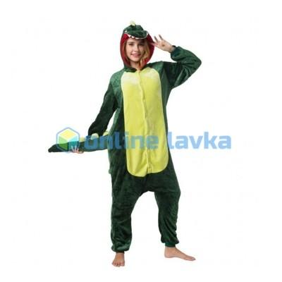Пижама кигуруми Зеленый динозавр (размер S)