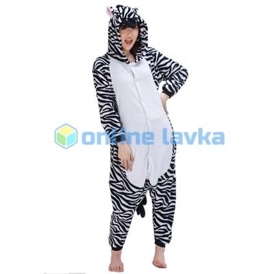 Пижама кигуруми зебра (размер s)