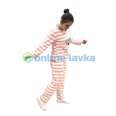 Пижама мишка розовый M