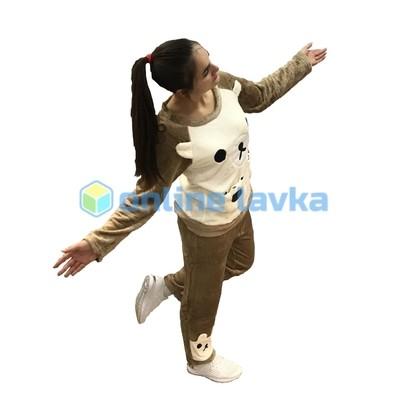 Пижама мишка коричнево бежевый S