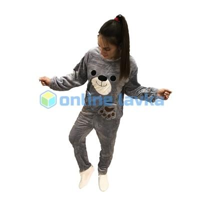 Пижама медведь серый M