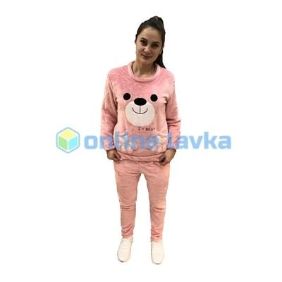 Пижама медведь розовый M