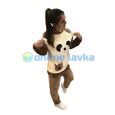 Пижама панда коричневая M