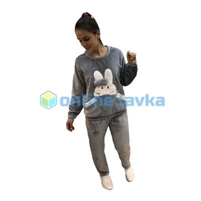Пижама заяц серый M