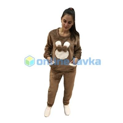 Пижама заяц с бантом коричневый M