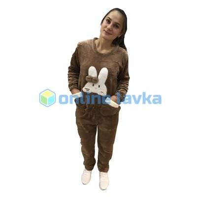 Пижама заяц коричневый M