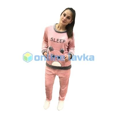 Пижама хомяк розовый M