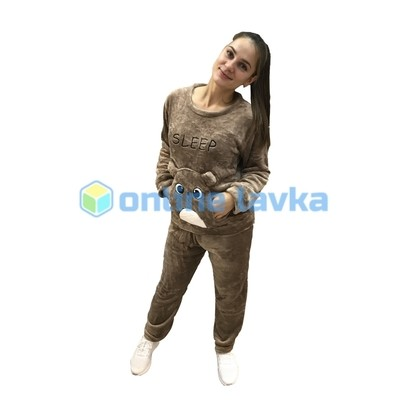Пижама хомяк светло коричневый M