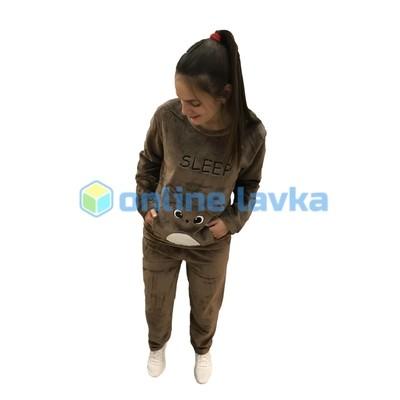 Пижама хомяк темно коричневый M