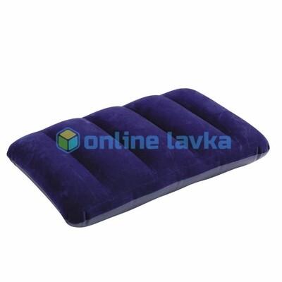 Надувная подушка 43*28*9 см плоская синяя intex