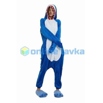 Пижама кигуруми акула (размер s)
