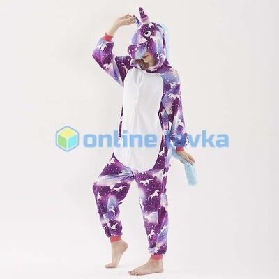 Пижама кигуруми Единорог в единорогах (размер s)