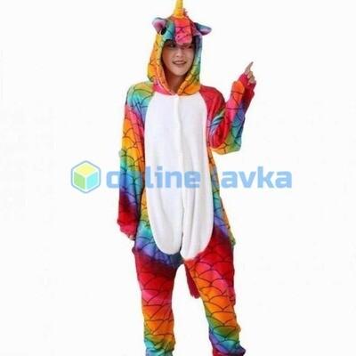 Пижама кигуруми Единорог морской (размер s)
