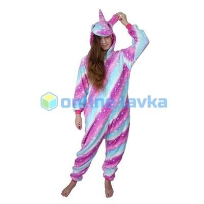 Пижама кигуруми Единорог млечный (размер l)
